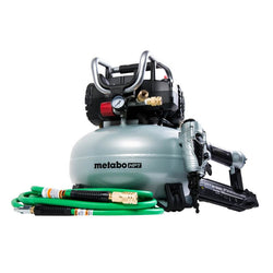 METABO  -  KNT50AB - Hitachi Brad Nailer & Compressor Combo Kit - Wise Line Tools