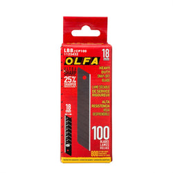 Olfa 100pk 18mm UltraSharp Snap-Off Black Blade - wise-line-tools