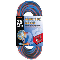 Prime LT530825 - 12/3  25' Arctic Blue Ext. Cord - wise-line-tools