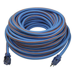 Prime LT530935 Ultra Heavy Duty 100-Foot Artic Blue All-Weather TPE Extension Cord - Wise Line Tools