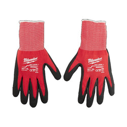 Milwaukee 48-22-8902  -   Cut Level 1 Dipped Gloves – Large - wise-line-tools