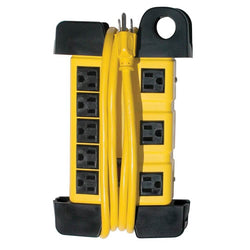 Prime PB801130 - 8-Outlet (5+3) Black Metal Shop Box w/ 6ft Cord & - wise-line-tools