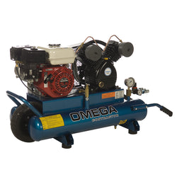Omega PUK-5508G -  5.5-HP 8-Gallon, 12.5 CFM Gas Wheelbarrow Air Compressor, Honda Engine
