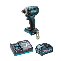 "MAKITA TD001GM103  -  XGT 40V (4.0 Ah) MAX Li-Ion Brushless 1/4"" Impact Driver Kit"