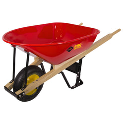 Garant TIFS600  -  Wheelbarrow, 6 cu. ft. Steel Tray, Heavy Duty Industrial