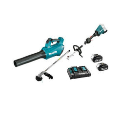 Makita Brushless Split Shaft Line Trimmer - 18V x 2 + FREE LEAF BLOWER