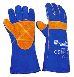 Weldclass WC-01775 - Welding Gloves - PROMAX BLUE - wise-line-tools