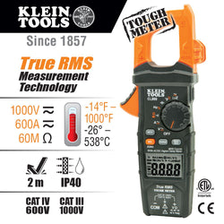 Klein CL800  -  Digital Clamp Meter - AC Auto-Range TRMS, Low Impedance (LoZ), Auto Off