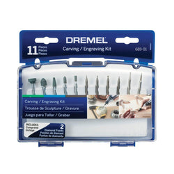 Dremel  689-01 - 11pc Carving/Engraving Kit - wise-line-tools