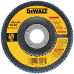 DEWALT DW8306 4-1/2-Inch by 7/8-Inch 36 Grit Zirconia Angle Grinder Flap Disc - Wise Line Tools
