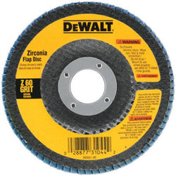 DEWALT DW8306 4-1/2-Inch by 7/8-Inch 36 Grit Zirconia Angle Grinder Flap Disc - wise-line-tools