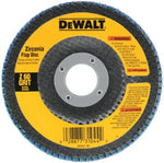 DEWALT DW8308 60 Grit Zirconia Angle Grinder Flap Disc, 4-1/2-Inches x 7/8-Inches - wise-line-tools