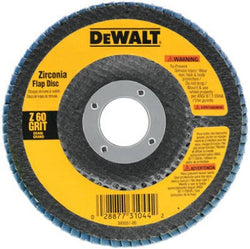 DEWALT DW8308 60 Grit Zirconia Angle Grinder Flap Disc, 4-1/2-Inches x 7/8-Inches - Wise Line Tools