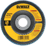 DEWALT DW8309 4-1/2-Inch x 7/8-Inch 80 Grit Zirconia Angle Grinder Flap Disc - Wise Line Tools