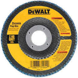 DEWALT DW8309 4-1/2-Inch x 7/8-Inch 80 Grit Zirconia Angle Grinder Flap Disc - wise-line-tools