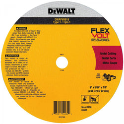 Dewalt DWAFV8918  - FLEXVOLT® CERAMIC METAL CUTOFF WHEEL - wise-line-tools