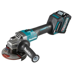 "Makita GA005GM102  -  XGT 40V (4.0 Ah) MAX Li-Ion Brushless 5"" Angle Grinder Kit (With Slide Switch)"