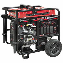 King KCG-15000GE  -  15,000W V-TWIN GASOLINE GENERATOR WITH ELECTRIC START - Wise Line Tools