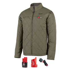 Milwaukee 203OG-21L  -   M12 Olive Green Axis Heated Jacket Kit - L