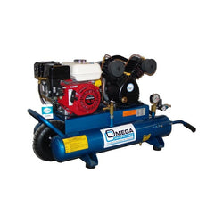 Omega PUK-6508G -  6.5-HP 8-Gallon, 16.5 CFM Gas Wheelbarrow Air Compressor, Honda Engine