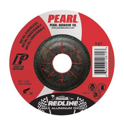 PEARL REDLINE DCRED50  -   5 X 1/4 X 7/8 ALUMINUM OXIDE MAX A.O. TYPE 27 GRINDING WHEELS (PACK OF - Wise Line Tools