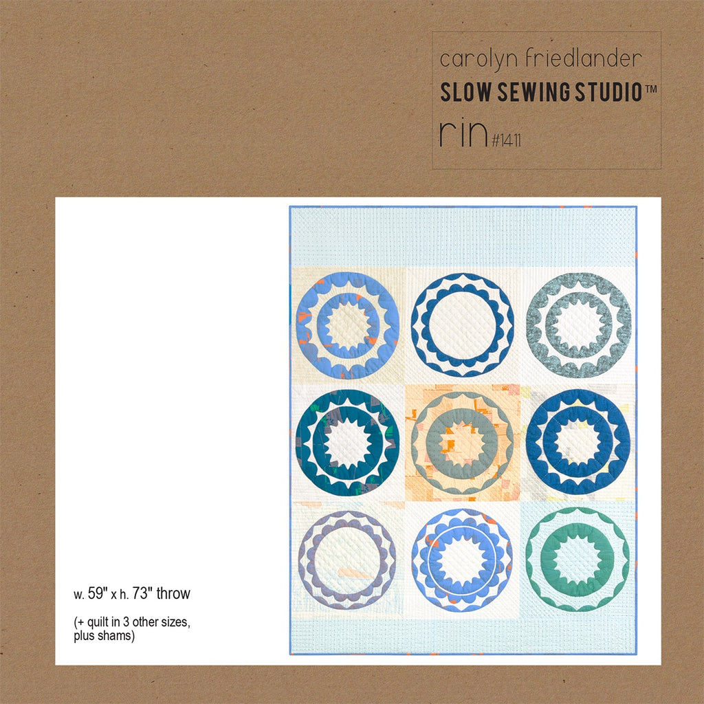 Carolyn Friedlander - Slow Sewing Studio Rin