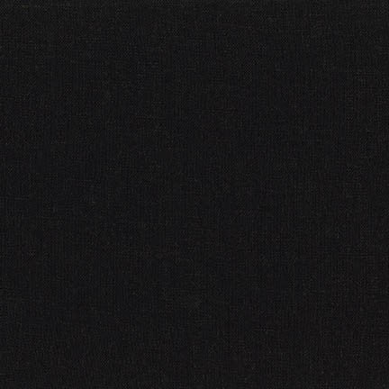 1/2m Robert Kaufman - Brussels Washer - Linen Rayon - Black