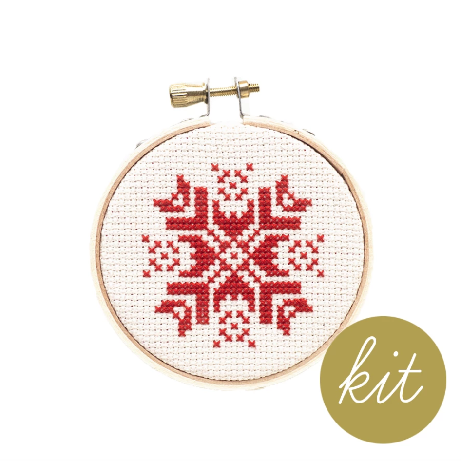Junebug and Darlin - Snowflake Ornament Cross Stitch Kit I