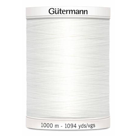 Gütermann Sew-All Thread - 1000m - #20 White