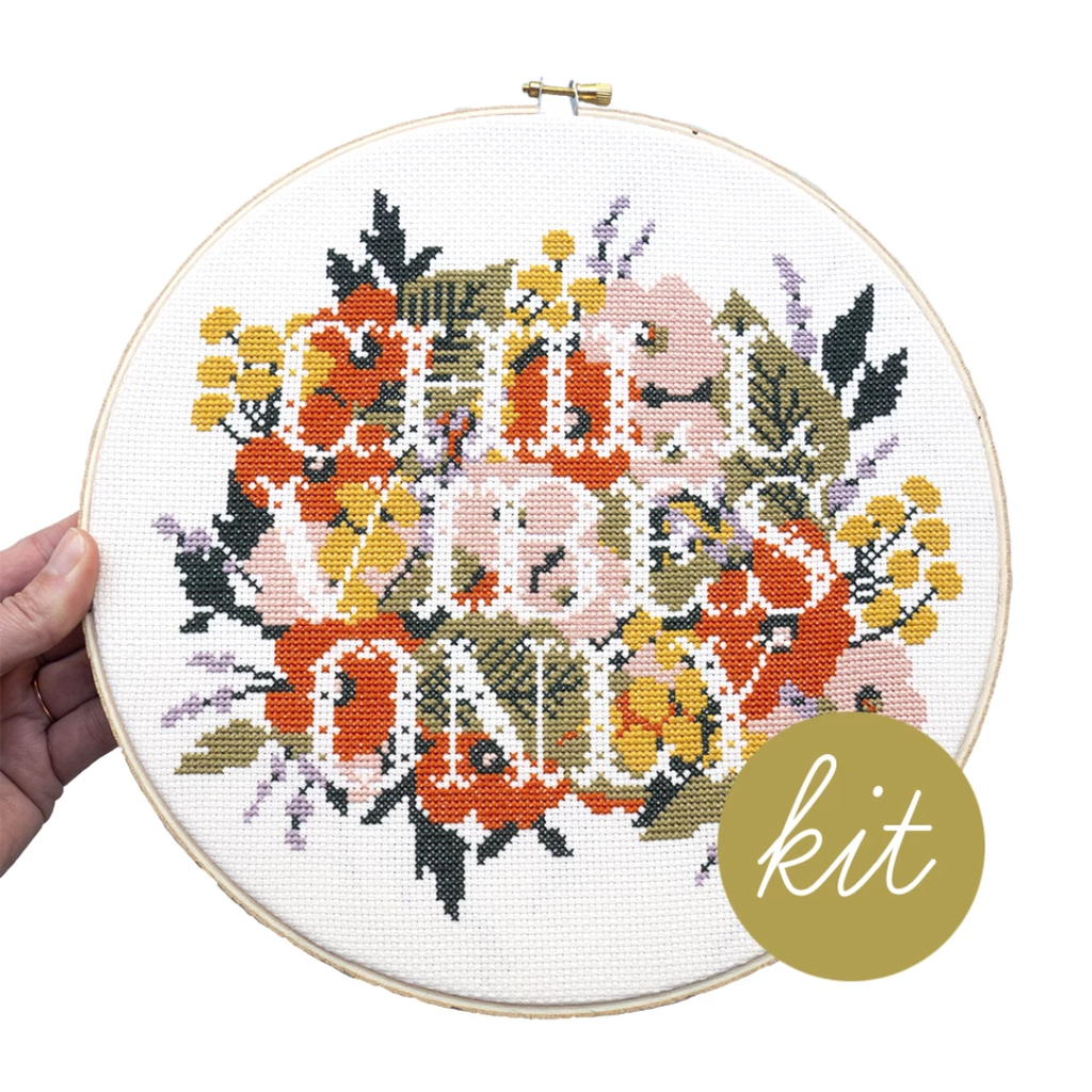 Junebug and Darlin' - Chill Vibes Only Cross Stitch Kit