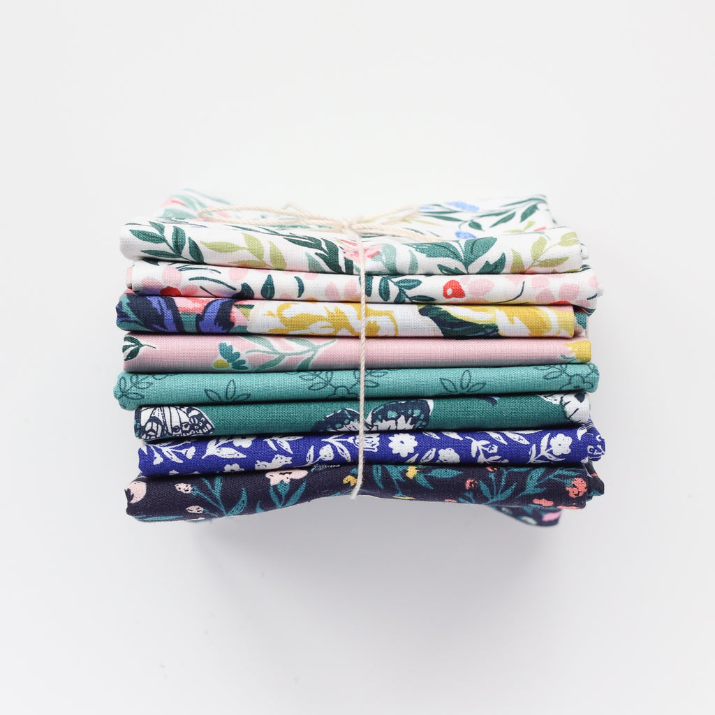 Fat Quarter Bundle - Cloud9 - Organic Quilting Cotton - Cassidy Demkov - Perennial - 8 Pieces