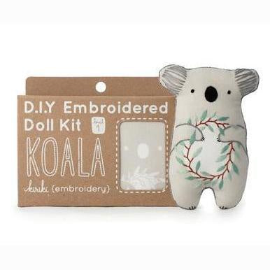Kiriki Press - Embroidered Doll Kit - Koala