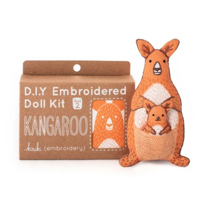 Kiriki Press - Embroidered Doll Kit - Kangaroo
