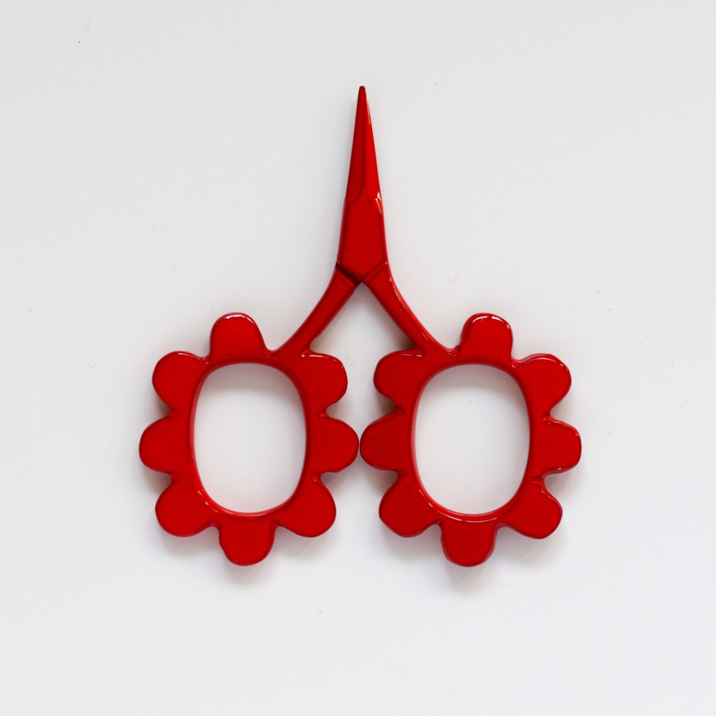 Flower Power Scissors - Red