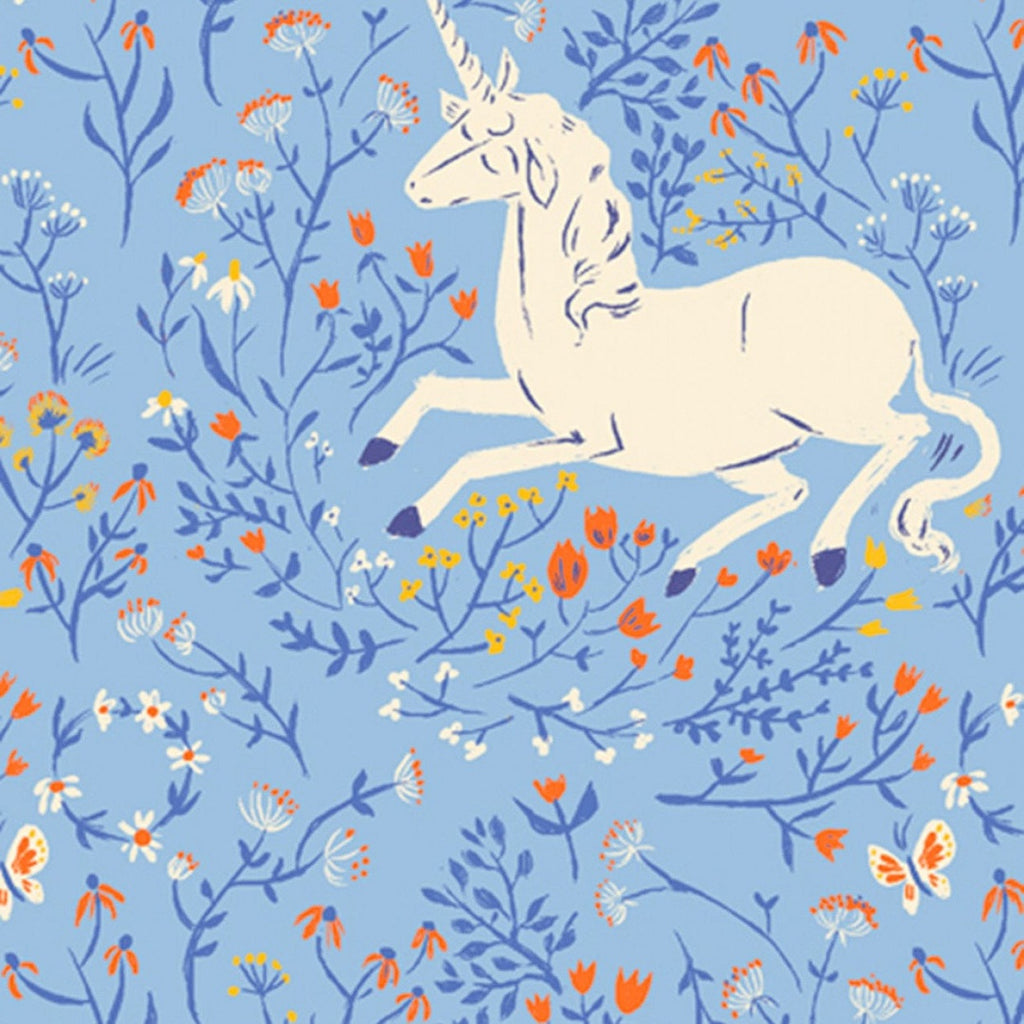 1/2m Heather Ross - 20th Anniversary Collection - Blue Unicorns