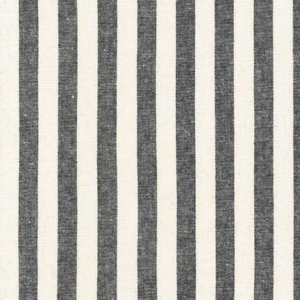 1/2m Robert Kaufman - Essex Yarn Dyed Classic Wovens - Stripe - Black