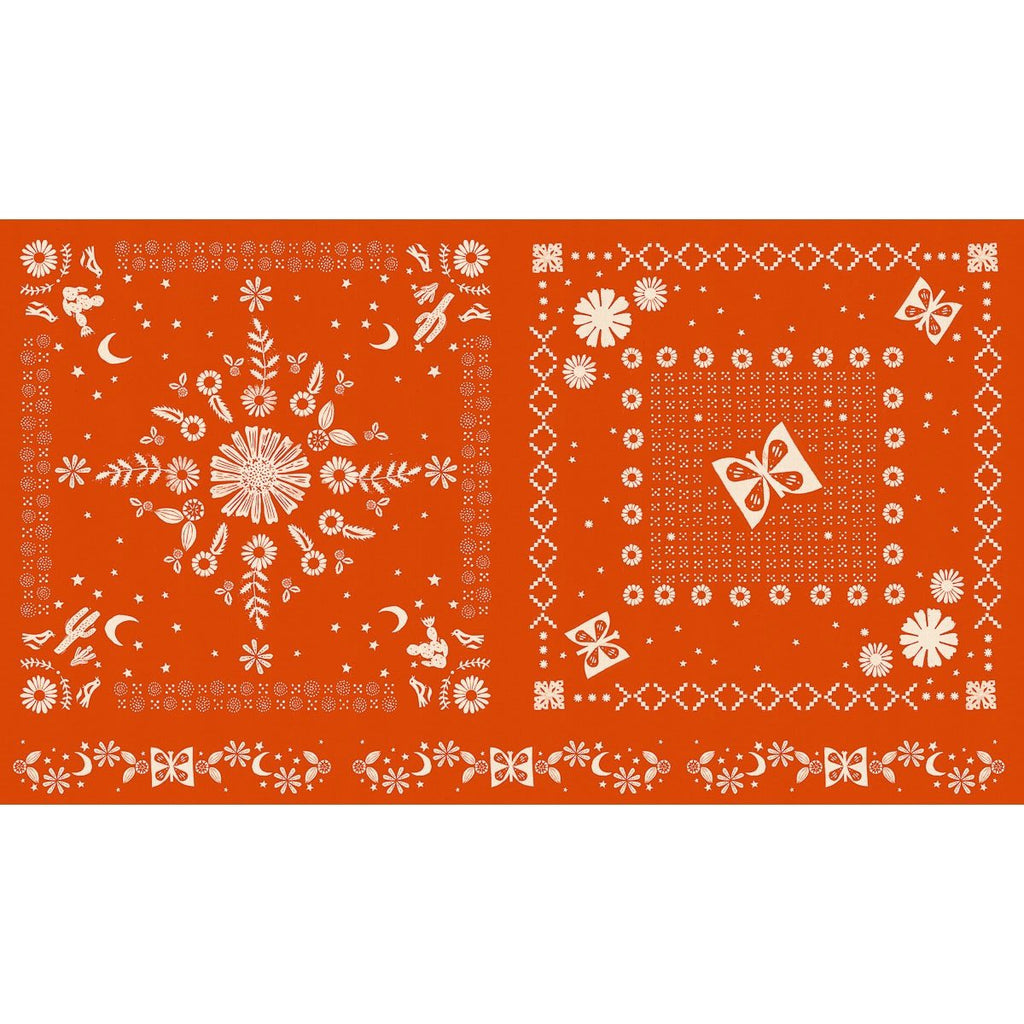 Ruby Star Society - Alexia Abegg - Golden Hour - Bandana Panel - Warm Red