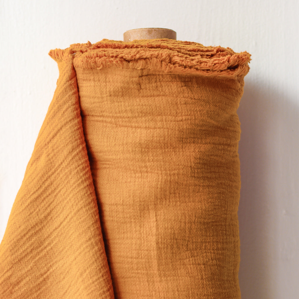 1/2m Textured Cotton Double Cloth - Ochre