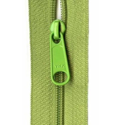 "YKK Ziplon Closed Bottom Zipper - 9"" - Pear Green"