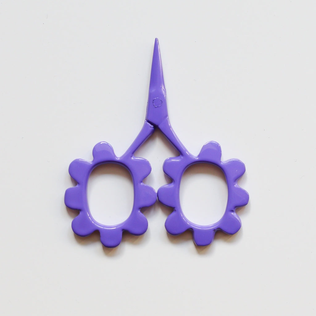 Flower Power Scissors - Purple