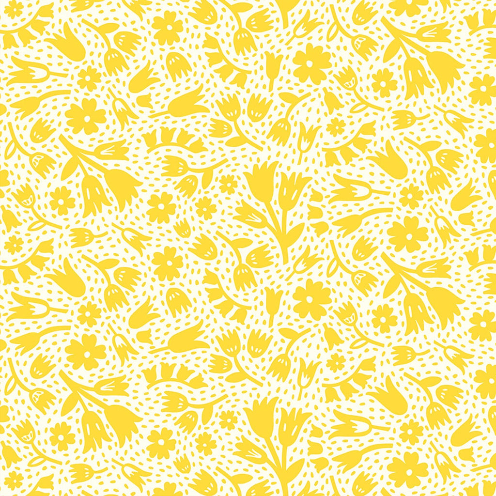 1/2m Dana Willard - Squeeze - Floral - White/Yellow