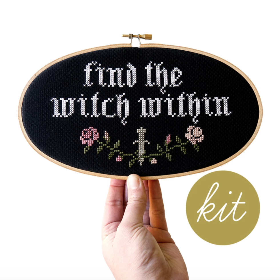Junebug and Darling - Find the Witch Within Cross Stitch Kit