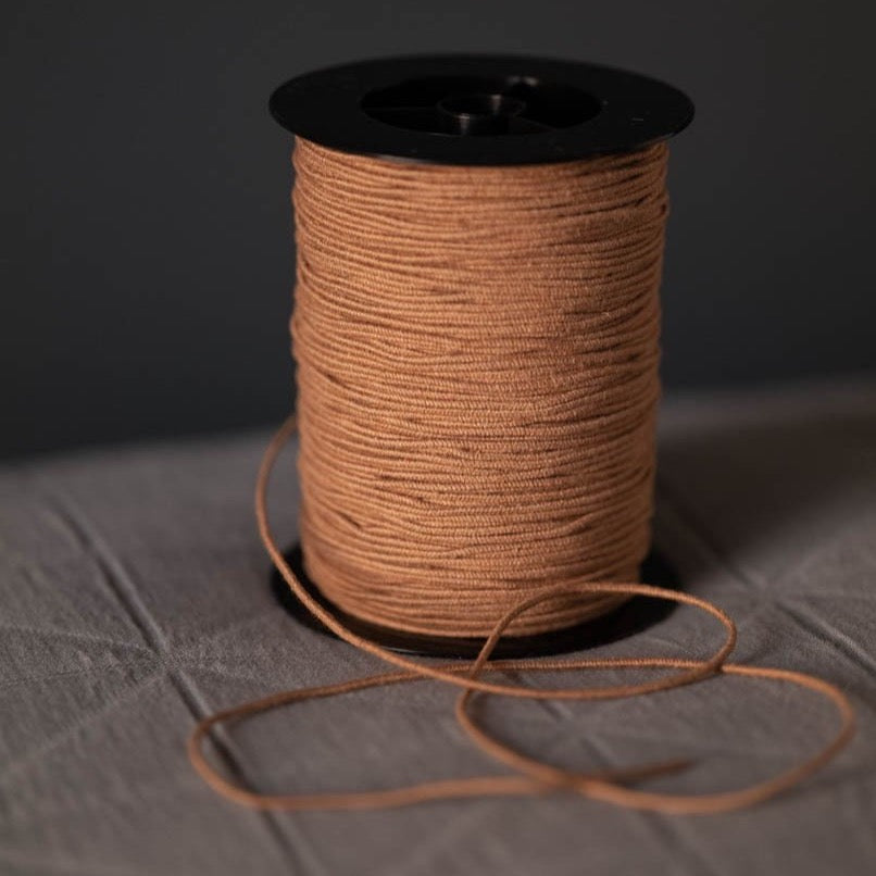 Recycled Cotton Elastic - Tan - Per Metre
