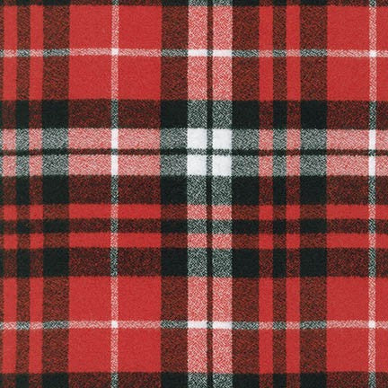 1/2m Robert Kaufman - Mammoth Flannel -Scarlet