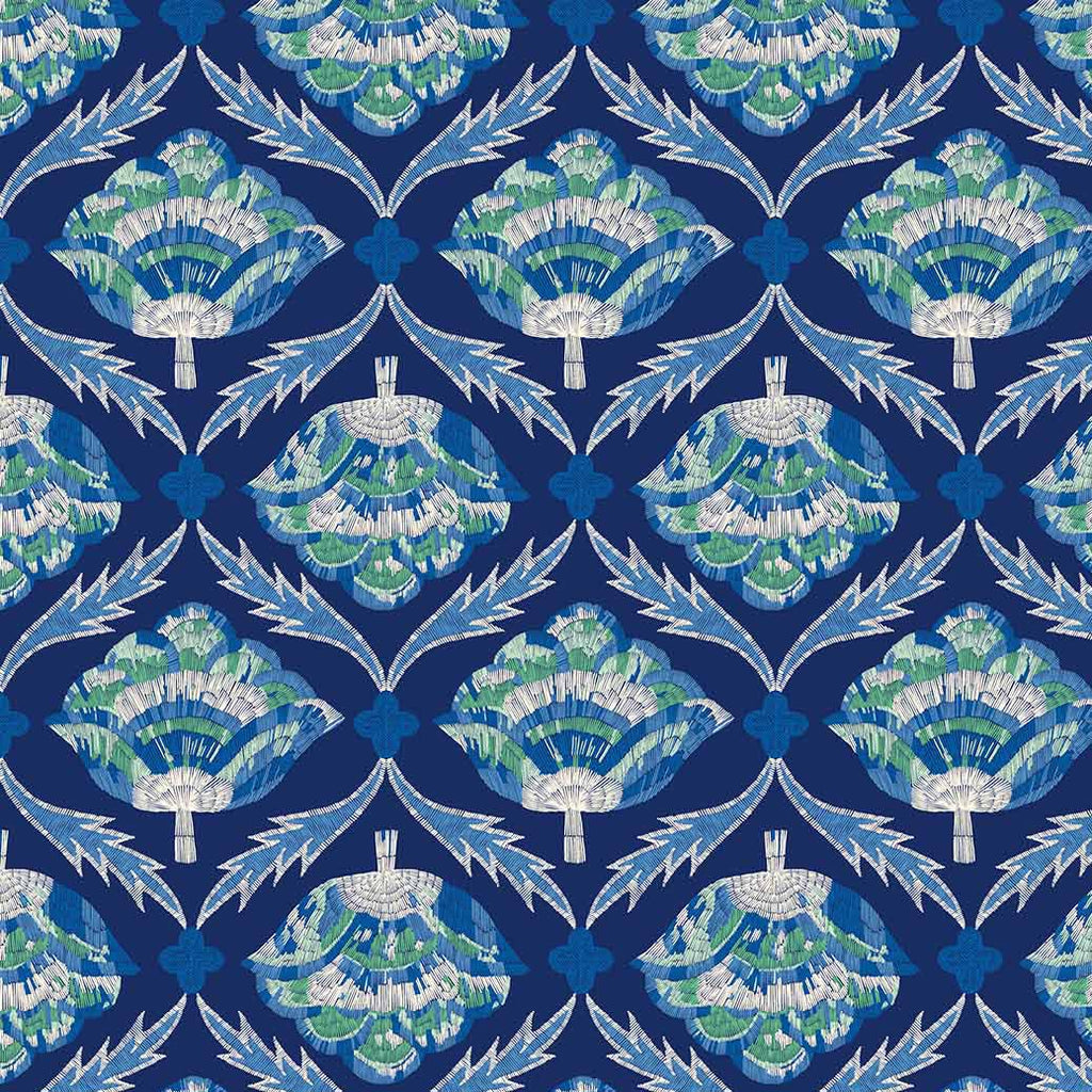 1/2m Emily Taylor - Glasshouse - Embroidered Bloom - Navy Multi