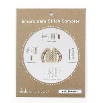 Kiriki Press- Embroidery Stitch Sampler - Knit Sweater