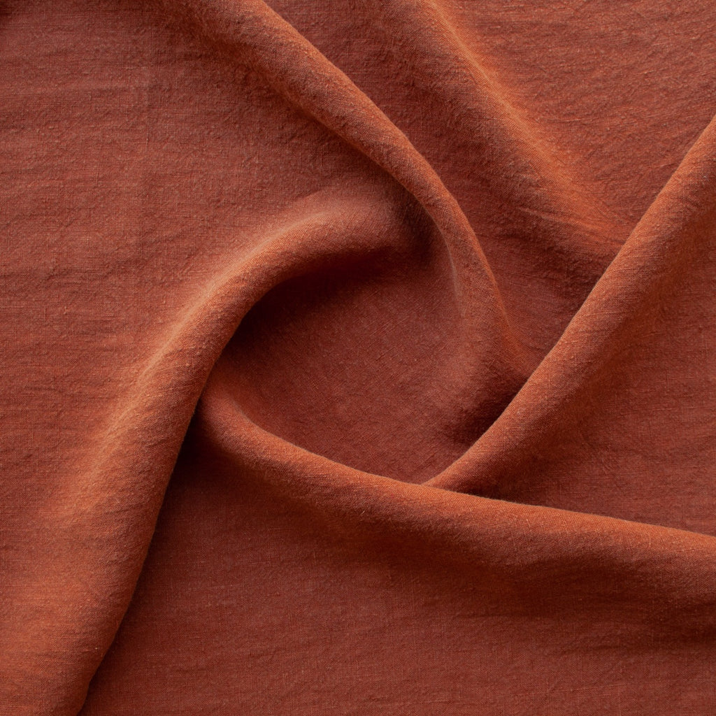 1/2m Washed Linen - Copper