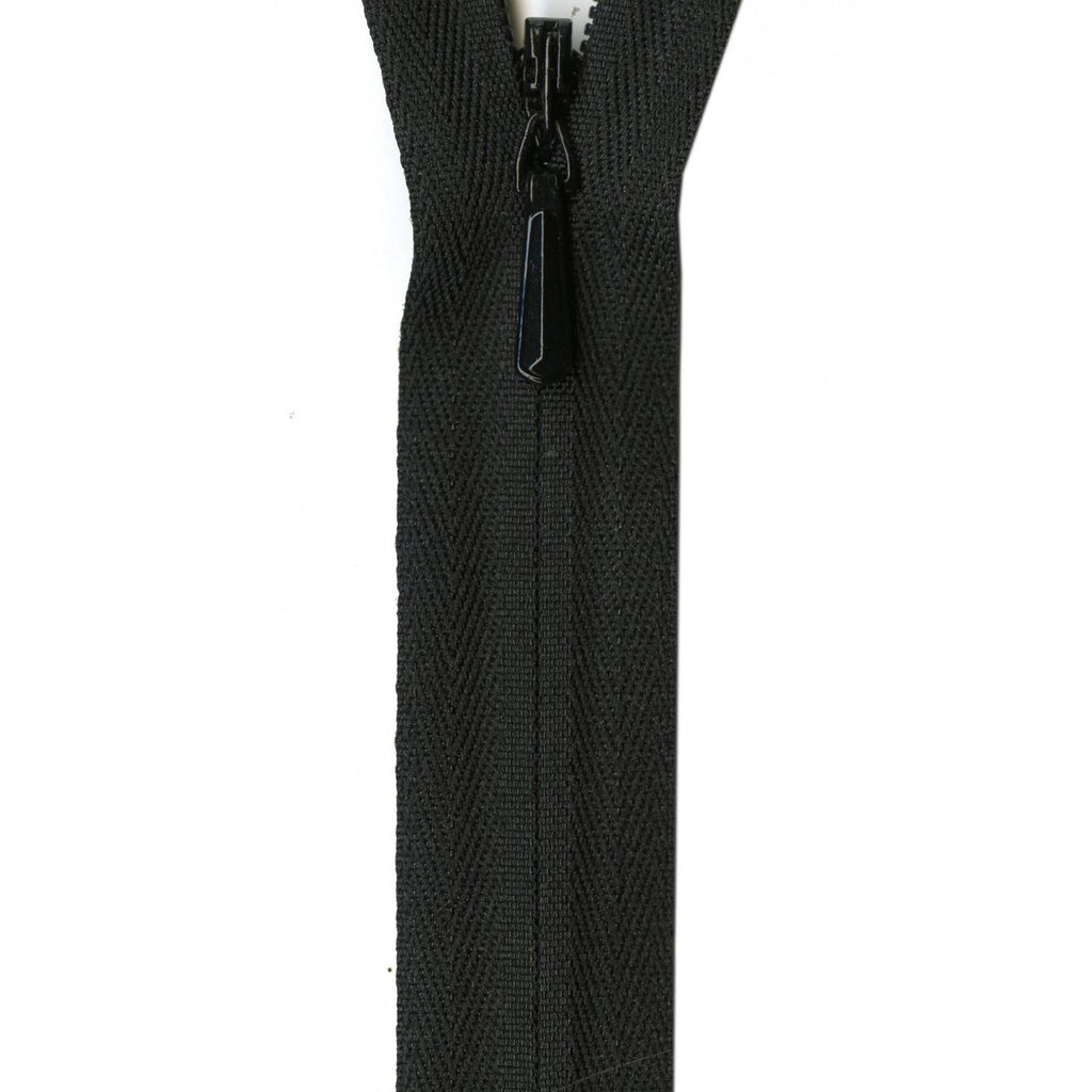 "YKK Unique Invisible Zipper - 22"" - Black"