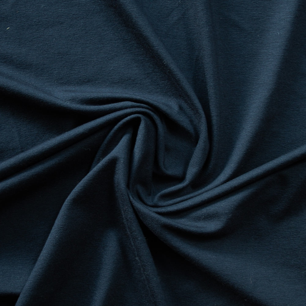 1/2m Viscose Jersey Knit - Navy