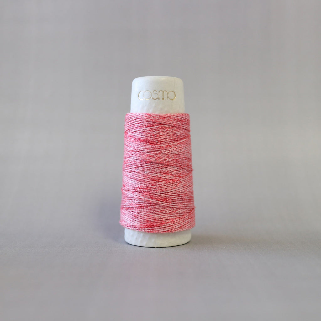 Cosmo Hidamari Sashiko Thread - #201 Strawberry Milk - 30m